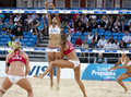 Gbr fivb international london england shauna mullin zara dampney vs alejandra simon andrea garcía gonzalo esp during the beach Royalty Free Stock Images