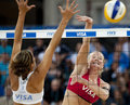 Gbr fivb international london england shauna mullin zara dampney vs alejandra simon andrea garcía gonzalo esp during the beach Stock Photography