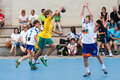 Gcup handball granollers international tournament in barcelona spain june Stock Photography