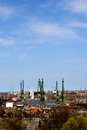 Gdańsk shipbuilding panorama city detailing the area of Royalty Free Stock Image