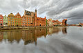 Gdansk, Central City Quay Royalty Free Stock Photo