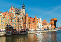 Gdansk. Central embankment. Royalty Free Stock Photo