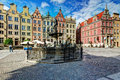 Gdansk dt old town long market street fountain of neptune Stock Photos