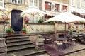 Gdansk Mariacka street cafe Royalty Free Stock Photo
