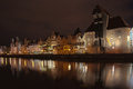 Gdansk at night Royalty Free Stock Photography