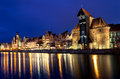 Gdansk at night, Poland Royalty Free Stock Photo