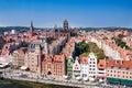 Gdansk old city skyline, Poland Royalty Free Stock Photo