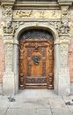Gdansk old door poland city also know nas danzig in pomerania region wooden Royalty Free Stock Images
