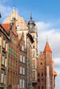 Gdansk old town in poland on a sunny day Stock Images