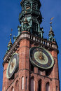 Gdansk old town in poland on a sunny day Royalty Free Stock Image
