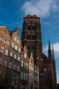 Gdansk old town in poland on a sunny day Royalty Free Stock Images