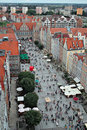 Gdansk, Poland. Bird's-eye view. Stock Image