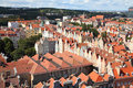 Gdansk poland city also know nas danzig in pomerania region old town aerial view Stock Images