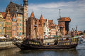 Gdansk poland harbor at motlawa river is the landmark of the city this is the most attractive view of the city shooting date am Royalty Free Stock Images
