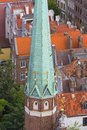 Urban landscape, aerial view of the old city of Gdansk, Gdansk, Poland Royalty Free Stock Photo