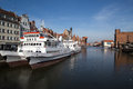 Gdansk poland march ships harbor historic city gdansk danzig poland Royalty Free Stock Photo