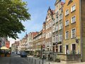 The Gdansk city centre, popular Polish touristic destination. Impressive old town architecture Royalty Free Stock Photo