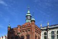 Gdansk poland top of middle century building facade house city manager Royalty Free Stock Images