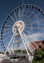 Gdansk ferris wheel Royalty Free Stock Photo