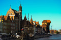 Gdańsk old town in poland Royalty Free Stock Photo