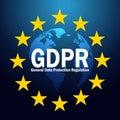 GDPR General Data Protection Regulation on 25 may 2018. GDPR illustration