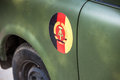Gdr insignia of the on a car Stock Photography