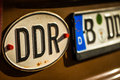 Gdr numberplate Stock Photography