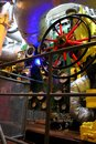 Gdynia, Poland - The engine room of the Polish warship museum battleship destroyer