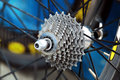 Gear of bicycle wheel Royalty Free Stock Photography