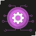 Gear digital color icon Royalty Free Stock Photo