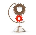 Gear globe d on a white background illustrations Stock Photography