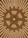 Gear Grunge Steampunnk Vector Background Royalty Free Stock Photography