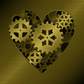 Gear heart Stock Image