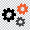 Gear icon. Colored mechanism. Vector illustration