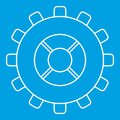 Gear icon, outline style