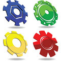 Gear icons Stock Images
