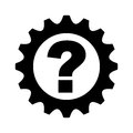 Gear machine with question icon