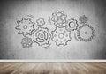 Gear mechanism as teamwork concept