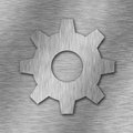 Gear metal symbol technology concept Stock Photos