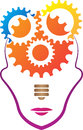 Gear mind a vector drawing represents design Stock Image