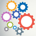 Gear modeling abstract background vector illustration Stock Images