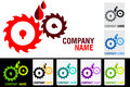 Gear oil logo Stock Photos