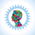 Gear outside of human head Royalty Free Stock Photo
