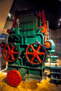 Gear in paper machine old industrial museum Royalty Free Stock Image