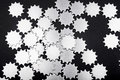 Gear pattern isolate on black background Royalty Free Stock Photo