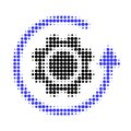 Gear Rotation Halftone Dotted Icon