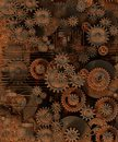 Gear rows of golden mechanical Royalty Free Stock Image