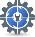 Gear spanner logo