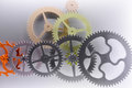 Gear structure pattern machine power Stock Photo