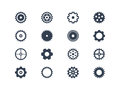 Gear symbols easy to edit and manipulate Stock Images